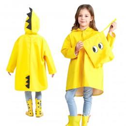 1PC śliczny mały dinozaur wodoodporny poliestrowy płaszcz przeciwdeszczowy chłopiec dzieci dziewczyny wiatroszczelny Poncho prze