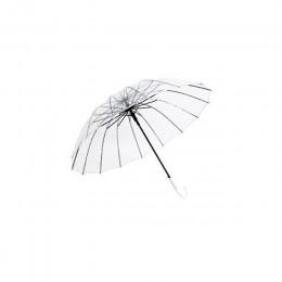 Półautomatyczne przezroczyste parasole chroniące przed wiatrem i deszczem długa parasolka z uchwytem jasne pole widzenia