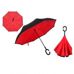 Yesello składający się parasol dwuwarstwowy odwrócony wiatroodporny deszcz parasole samochodowe dla kobiet