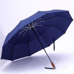 Oryginalny marka duży składany Parasol deszcz 1.2 metrów biznes mężczyźni automatyczne parasole wiatroszczelna męski Parasol cie
