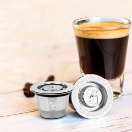 Nowa stal nierdzewna Metal 2 w 1 zastosowanie filtr do kawy Nespresso kapsułka wielokrotnego użytku wielokrotnego napełniania wi