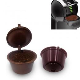 1 sztuk wielokrotnego użytku kapsułka kawy Dolce Gusto, plastikowe wielokrotnego napełniania kompatybilny Dolce Gusto filtr do k