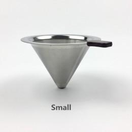 Filtr do kawy wielokrotnego użytku uchwyt ze stali nierdzewnej metalowe siatki kosze Drif filtry do kawy kroplówki v60 filtr do
