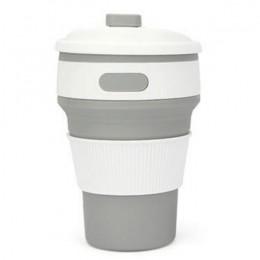 Gorący składane kubek silikonowy przenośny silikonowy teleskopowy picia składany kubek kawy wielofunkcyjny składany krzemionkowy
