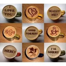 16 sztuk kawy ciasto z tworzywa sztucznego wzornik dekoracji ciastko szablon formy realistyczne Cappuccino Latte wzornik kawy fo