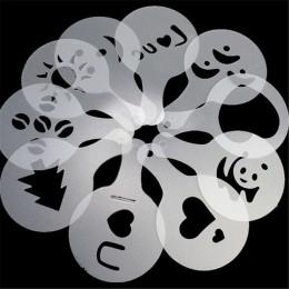 16 sztuk z tworzywa sztucznego Cappuccino kawy pianki w sprayu szablon szablony DIY dekorowanie drukowanie na kawie formy Barist