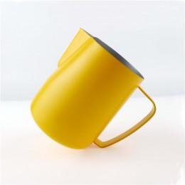 TTLIFE dzbanek do mleka 0.3-0.6L ze stali nierdzewnej dzbanek do spieniania ciągnąć kwiat kubek kawy spieniacz do mleka Latte Ar