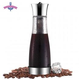 Zaparzacz do kawy mokka zimny napar Cafetera filtr dzbanek do kawy szczelne grube szkło zaparzacz do herbaty Percolator narzędzi