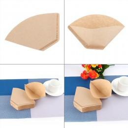 100 sztuk/zestaw filtry do kawy porcja papieru do kawy filtr do maszyny papier niebielone kawy stożki kubki foremka na ciasto ka