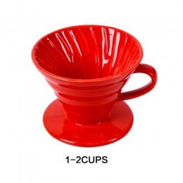 Ceramiczne kroplownik kawowy silnika V60 styl filtr do kawy filiżanka filtrowa stałe wlać ponad ekspres do kawy z oddzielne stoj