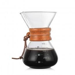 Hurtownia szkła odpornego na wysoką temperaturę ekspres do kawy dzbanek do kawy ekspres do kawy z filtrem ze stali nierdzewnej
