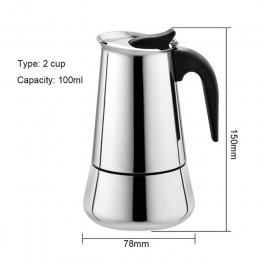 Czajnik ze stali nierdzewnej ekspres do kawy ekspres do kawy czajnik garnek przenośny ekspres do kawy Espresso zestaw do mokki P