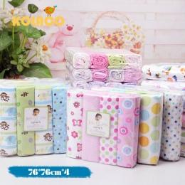 4 sztuk/partia newborn Baby pościel 100% bawełna łóżeczko arkusz 76x76 cm arkusze pościel dla dzieci zestaw super miękkie dzieci