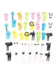 Widelce sztućce dla dzieci plastikowe zwierzęta urodziny widelczyki do przekąsek