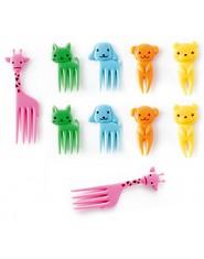 10 sztuk/zestaw zwierząt dziecko widelec do owoców kreatywny mini cartoon plastikowe owoce widelce kuchnia Bar dzieci deser wide