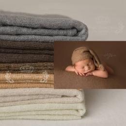 100*160 cm Tkaniny Koc Newborn Fotograficzne Rekwizyty, dzianiny Miękkie Stretch Fotografia Prop Napełniania Pozowanie Rozciągli
