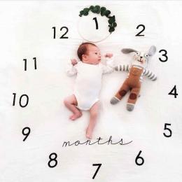 Koce Koc Fotografia Tło Prop Newborn Baby Rocznica Dywan Szmatką Kalendarza Bebe Niemowląt Chłopiec Dziewczyna Akcesoria Fotogra
