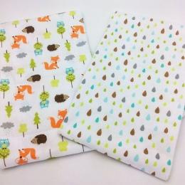 2 sztuk/paczka blachy dziecko 140x70 cm 100% bawełna noworodka prześcieradło Lisa jeż drukowania szopka blachy dziecko pościel z