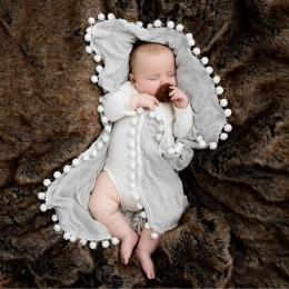Newborn Baby Chłopcy Dziewczyny Szopka Pom Pom Koc Śpi Przewijać Minky Koc Wrap Kołdra Mata Dekoracji Domu Tekstylia #25