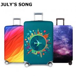 Grubsza osłona bagażu podróżnego walizka podróżna akcesoria Baggag elastyczny pokrowiec na bagaż zastosuj do walizki 18-32 cali