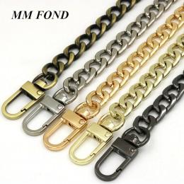 MM FOND nowa moda damska torebka łańcuszek super chic z 100 cm/120 cm długość płaskie torba metalowa łańcuch torba paski dekorac