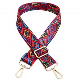 Nylon kolorowe torby z paskiem pasek akcesoria dla kobiet Rainbow regulowane wieszak na ramię torebka pasy dekoracyjne uchwyt Or