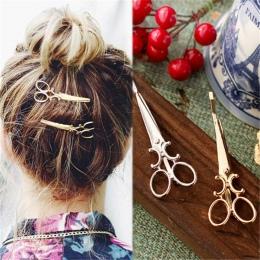 Twórczy Nożyczki Kształt Kobiety Lady Dziewczyny Barrette Włosów Klip Delikatne Włosy Pin Włosów Akcesoria Ozdoby Do Włosów