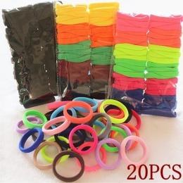 20 sztuk/partia Kolorowe Elastyczna Guma Tie Gum Hairbands Włosów Linowe Ponytail Posiadacze ren Akcesoria Do Włosów dla Dziewcz