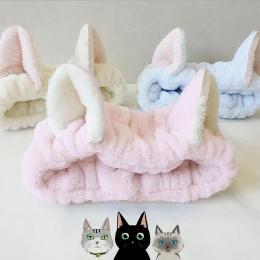 Śliczne Elastyczna Kot Uszy Opaski dla Kobiet Dziewczyn Makijaż Twarzy Mycia Pałąk Fryzury Twarzy Maska Headwrap Hairband Włosów