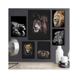 Nowoczesny obraz na ścianę płótno dekoracja do salonu zwierzęta lew wyposażenie wnętrz styl skandynawski