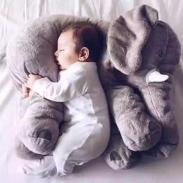 Cartoon 65 cm Duży Pluszowy Słoń Poduszki Dzieciak Spania Powrotem Poduszki Wypchane Poduszka Dla Niemowląt Słoń Lalki Dziecko P