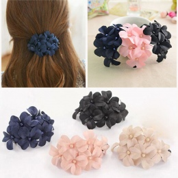 Chic Klasyczny Kobiety Dziewczyna Handmade Kwiat Pazur Barrette Spinki Do Włosów Stylowe