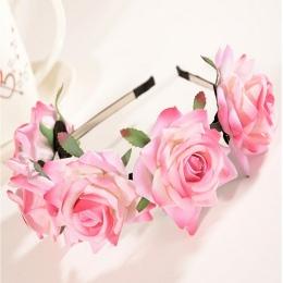 Nowy Kwiat Garland Floral Bride Pałąk Hairband Wedding Party Prom Festiwal Decor Księżniczka Kwiatowy Wieniec Chluba HO678647