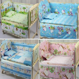 Zderzak Łóżko dla dziecka Bawełna/Pluszowe Zabawki Dla Niemowląt Pościel dla Niemowląt Toddle dzieci Łóżko Wokół Pościel Łóżeczk