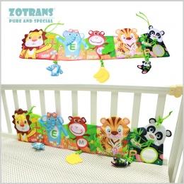 Łóżeczko dla dziecka Zderzaki w Łóżku Wokół i Zestaw Pościeli Dla Dzieci Grzechotka dla niemowląt z Zwierząt Modelu Dziecko Plus