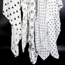 Ainaan Bawełny Muślinu Dziecko Swaddles Dla Noworodka Koce Black & White Gaza Ręcznik kąpielowy