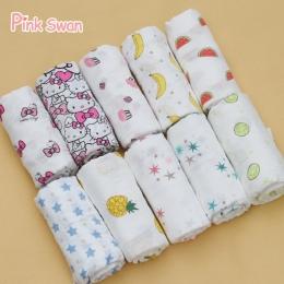 RÓŻOWY SWAN 100% Bawełny Muślinu Koce Pościel Ręcznik Multifunct Koperty Dla Noworodków Przewijać Dziecko koc Koce Dziecko Do Pr
