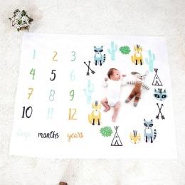 Koc dziecko Noworodka Przewijać Wózek Pościel Wrap Tle Zdjęcie Miesięczny Wzrost Numer Fotografia Rekwizyty Zestawy