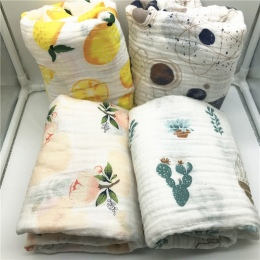 Koc dziecko bawełna dziecko muślinu przewijać dziecko koc jakość lepsza niż Aden Anais Dziecko ręcznik kąpielowy bawełna Niemowl