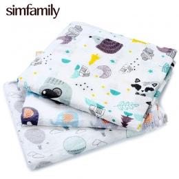 [Simfamily] 1 pc Muślinu 100% Bawełna Noworodka Swaddles Miękkie Dziecko deken Gazy niemowląt Koce okład sleepsack swaddleme man