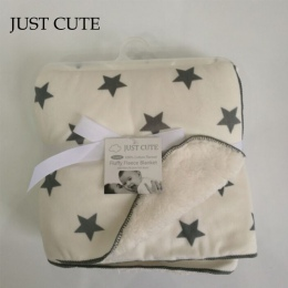 PO PROSTU CUTE Cartoon koce Dla Dzieci zagęścić podwójne warstwy polaru niemowląt koperta wózek wrap dla noworodka pościel koc