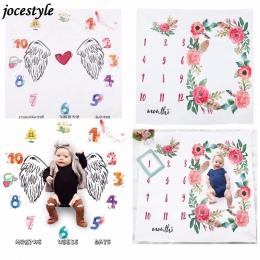 Kwiat Drukowane Koce Dla Dzieci Do Przewijania Wrap Śliczne Miękkie Koc Noworodka Moda Kąpielowy Ręczniki DIY Dla Dzieci Niemowl