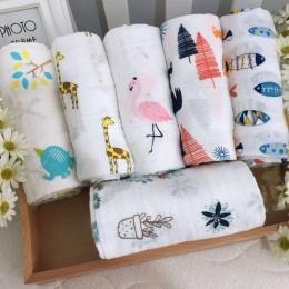 [Simfamily] Drop Shipping Muślinu 100% Bawełna Dziecko Swaddles Newborn Miękkie Koce Kolorowe Niemowlę Okład Sleepsack Swaddleme