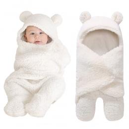 Koc dziecko Noworodka Dziecko Do Przewijania Wrap Miękkie Zima Dziecko Pościel Otrzymaniu Koc Manta Bébés Śpiwór 0-12 m noworodk