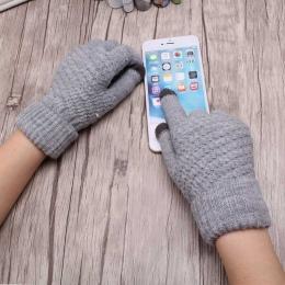 C Miya Mona Hot Sprzedaży Nowych Kobiet Ciepłe Zimowe Dzianiny Pełne Rękawiczki Rękawiczki Dziewczyna Kobiet Solidna Wełniane Rę
