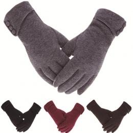 Kobiety Mężczyźni Ekran Dotykowy Rękawice Zimowe Jesień Ciepłe Rękawice Rękawice Na Rękę Jazdy Wiatroszczelna Narciarskie Rękawi