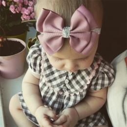 22 kolor new Baby hair bow kwiat Pałąk Srebrny ribbon Włosów Kompania Handmade DIY akcesoria do włosów dla dzieci newborn maluch