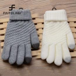 Magic Touch Screen Sensorycznej Rękawice Rękawice Dla Kobiet Dziewczyna Kobiet Stretch Knit Rękawice Guantes Rękawiczki Zimowe C