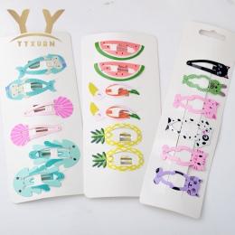 1 karty = 6 sztuk Kids Party Prezenty Dziewczyny Cartoon Śliczne Włosów Spinka Do Włosów Akcesoria Klip lodów