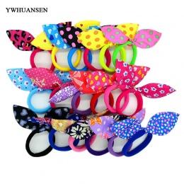 YWHUANSEN 20 sztuk/partia uszy Królika pasma Włosów Dla Dzieci Akcesoria dla dzieci Do Włosów Scrunchies Elastyczne Pasma Włosów